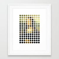 mona lisa Framed Art Prints featuring Mona Lisa by Gary Andrew Clarke