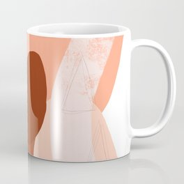 Abstract Collage in Rust Coffee Mug