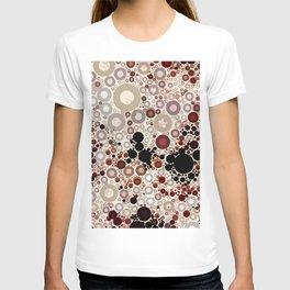 Earth ToneMulti Bubble Pattern Design T-shirt
