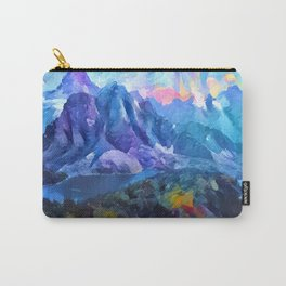 Abstract Landscape - Mountains and lakes Carry-All Pouch