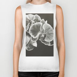White Orchids Biker Tank