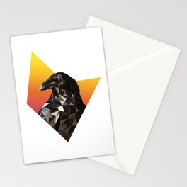 Low Poly Raven Stationery Cards
