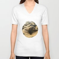 sand V-neck T-shirts featuring Sand by Ethan Bierly