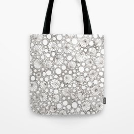 Striped bubbles and dots Tote Bag