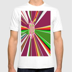 A burst of hope White MEDIUM Mens Fitted Tee