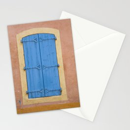Blue window shutters Stationery Cards