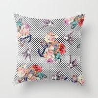 50s Throw Pillows featuring 50s by Mickaela Correia