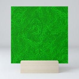 Neon Green Alien DNA Plasma Swirl Mini Art Print