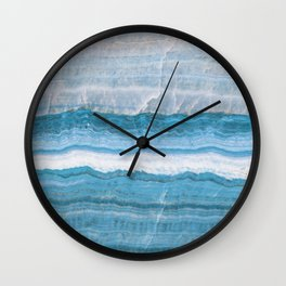 Blue onyx marble Wall Clock