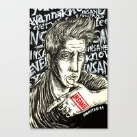 queens of the stone age Canvas Prints featuring INSANE Josh Homme (QOTSA - Queens Of The Stone Age) by Unaitxo