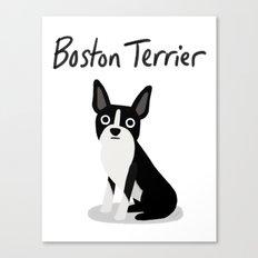 Boston Terrier - Cute Dog Series Canvas Print