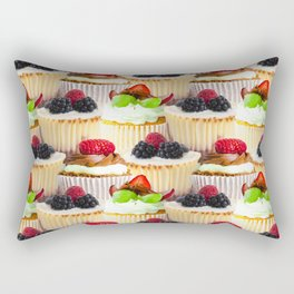 Cheesecake Cupcakes Repeat Rectangular Pillow