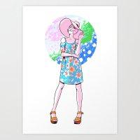 Spring Fashion Pearl Art Print