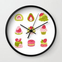 Strawberry Matcha Wall Clock