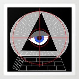 All-Seeing-Eye in the Crosshairs Art Print