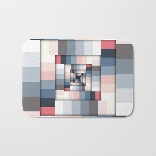 Geometric Layers of Color Bath Mat
