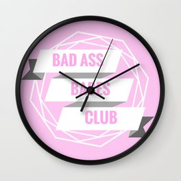Bad Ass Babes Club - Pink Prints - Girl Power Wall Clock