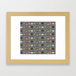 Punk Rock Rainbows Framed Art Print