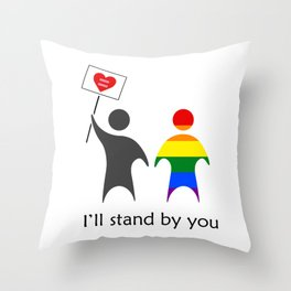 Allies stand together Throw Pillow