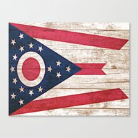 ohio state Canvas Prints featuring Ohio by C Liza B