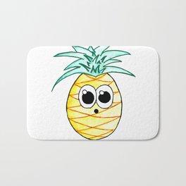 The Suprised Pineapple Bath Mat