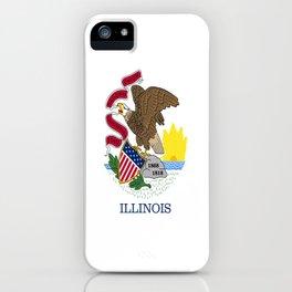 flag illinois,america,usa,midwest,Land of Lincoln,Prairie State,Illinoisan,Chicago,Aurora,Rockford iPhone Case