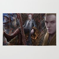 thranduil Area & Throw Rugs featuring Evergreen by Jay Lockwood Carpenter