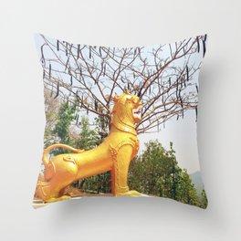 Sacred Mountain Guardian Throw Pillow