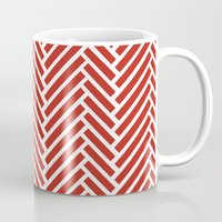herringbone Mugs featuring Herringbone Candy by Project M