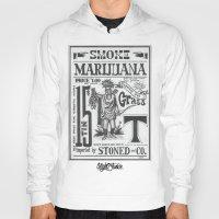 marijuana Hoodies featuring SMOKE MARIJUANA by NIGHTJUNKIE