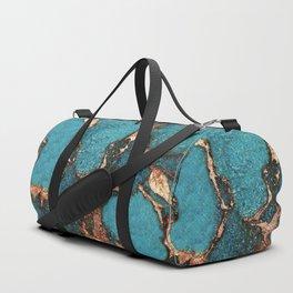 GEMSTONE  & GOLD AQUA Duffle Bag