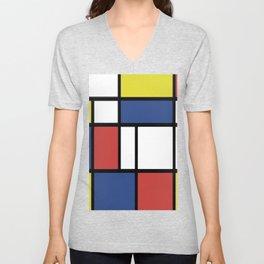 Mondrian 3 #art #mondrian Unisex V-Neck