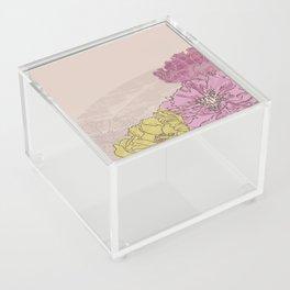 Retro Pink Peonies Acrylic Box