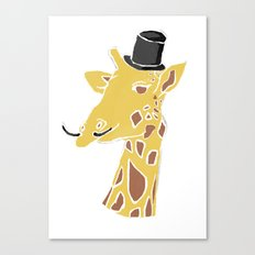 Gentleman Giraffe Canvas Print