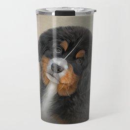 Drawing puppy Bernese Mountain Dog 2 Travel Mug