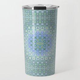 light blue butterfly kaleidoscope Travel Mug