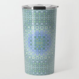light blue butterfly kaleidoscope Travel Mug