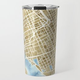 Charleston, South Carolina City Map Art Print Travel Mug