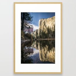 Down in the valley.  |  Yosemite, USA Framed Art Print