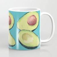 avocado Mugs featuring Avocado by Magenta Rose Designs