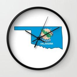Oklahoma Love Wall Clock