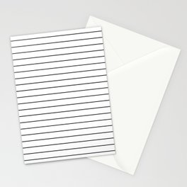 Thin lines black Stationery Cards