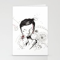 human Stationery Cards featuring Human by Ianah Maia