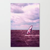 surfer Canvas Prints featuring surfer by Claudia Drossert