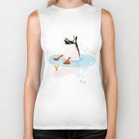 duck Biker Tanks featuring Duck by Dogfrogduckbird