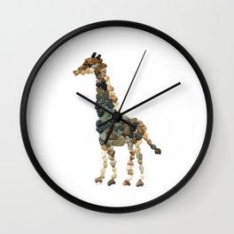 Rock Heart Giraffe Wall Clock