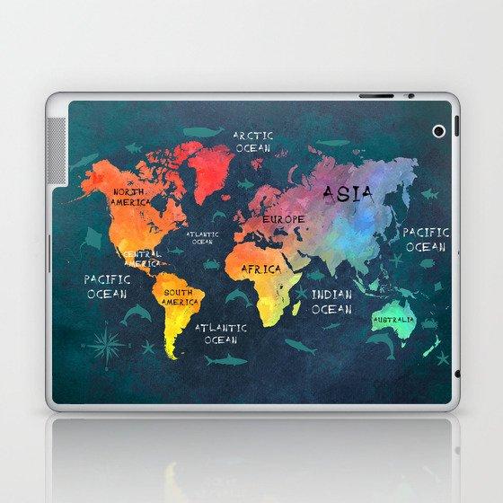 World Map 49 Color Laptop Ipad Skin By Jbjart Society6
