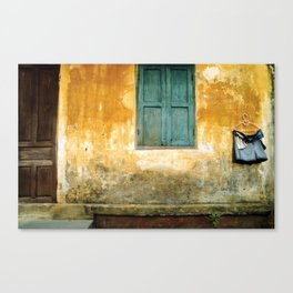Asian Laundry Day of Hoi An - Vietnam Canvas Print