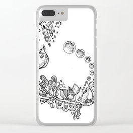 Sketch 43 - Abstract Clear iPhone Case