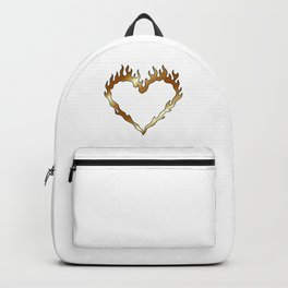 Gold Heart Flames Backpack